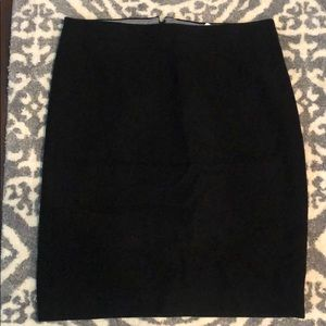 Black Wool J Crew Factory Pencil Skirt